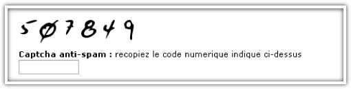 Afin de lutter contre le SPAM : CAPTCHA pour les commentaires…