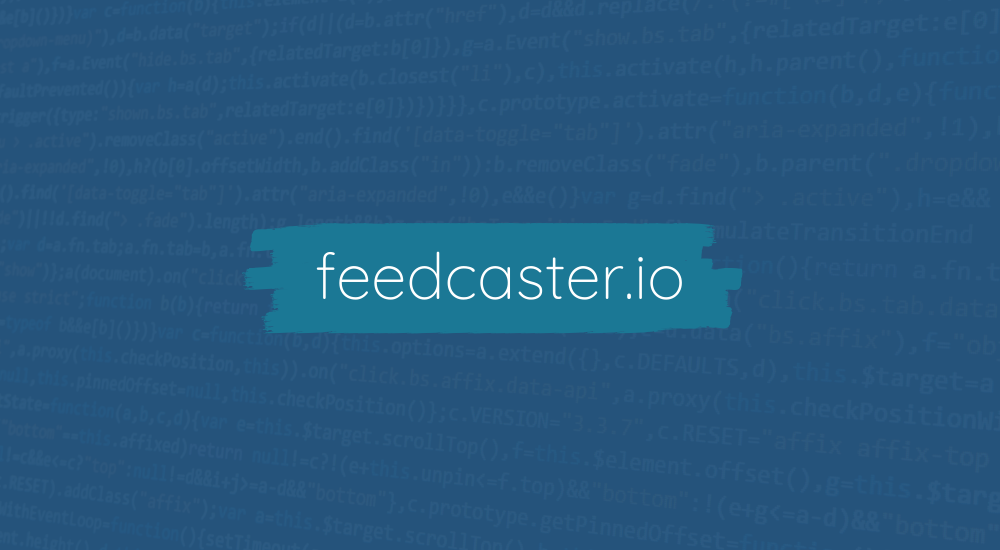 feedcaster.io