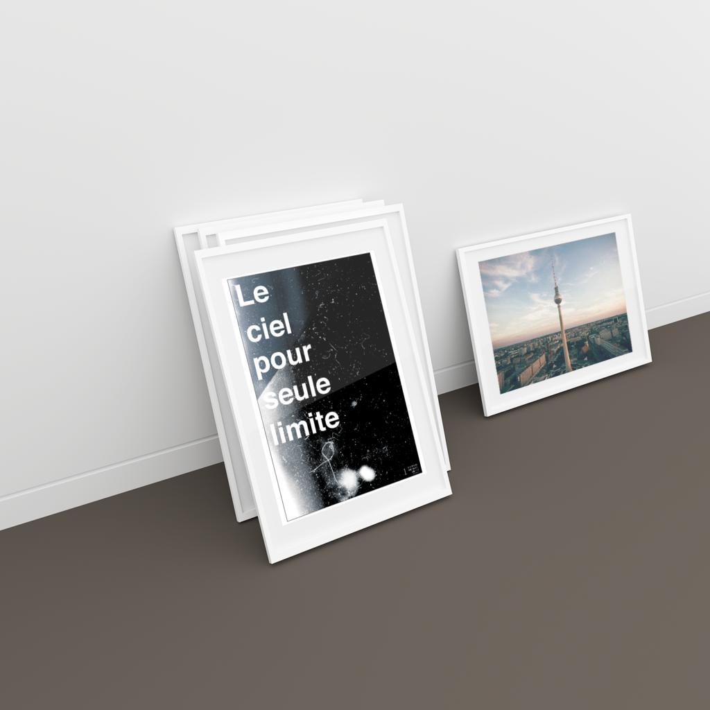 L'Affiche Inspirante - Le ciel pour seule limite
