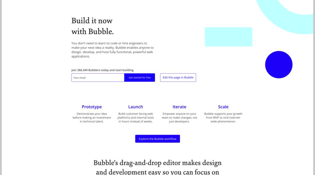 Mettre Bubble.io au centre du cycle de vie de son application